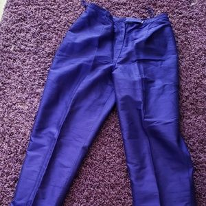NEW Without Tags JONES NY BLUE SILK SLACKS Sz 4